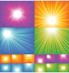 sunbeam backgrounds vector image