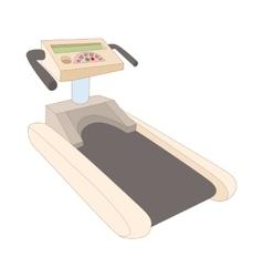 Treadmill icon cartoon style vector