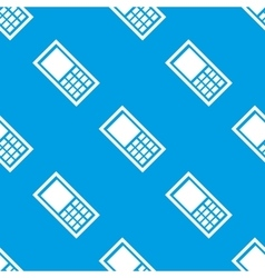 Seamless mobile phones pattern vector