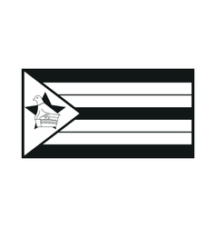 Zimbabwe flag isolated monochrome on white vector