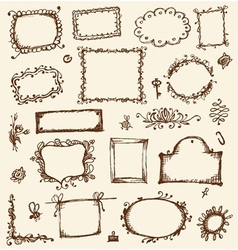Sketch of frames hand drawing for your design vector