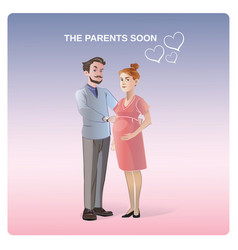 Future parents concept vector
