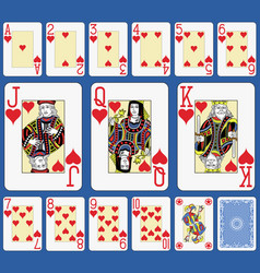 Blackjack hearts suite french stylexa vector