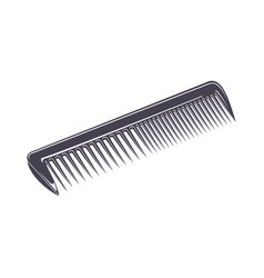 Comb monochrome style vector