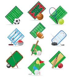 Set icons sport vector
