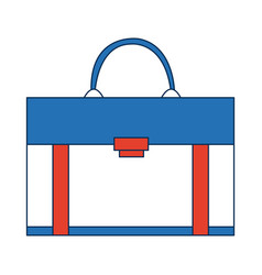 Business briefcase for travelling flat icon modern vector