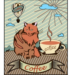 retro banner coffee vector image
