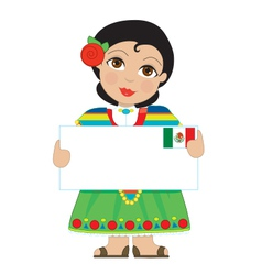 Mexican girl sign vector