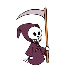Death cartoon character vector