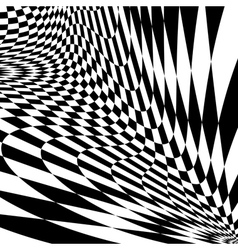 Design monochrome movement checkered background vector