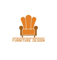 Furniture logo mockup armchair isolated chair icon vector