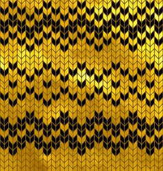 Golden seamless knitted pattern vector