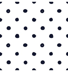 Hand drawn seamless indigo irregular dot texture vector