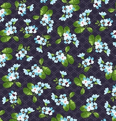 Floral pattern with little blue flowers vector