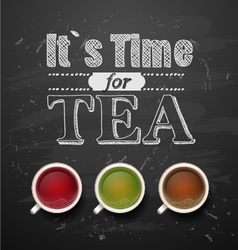 Its time for tea vector