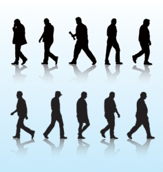Walking men vector