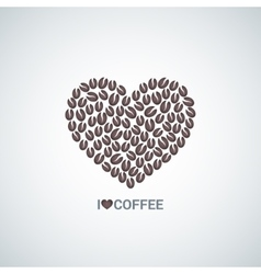 coffee beans love concept background vector image