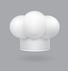 a white chef hat icon realistic vector image