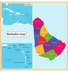 Barbados map vector