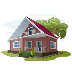 Brick house cottage vacation home country house vector
