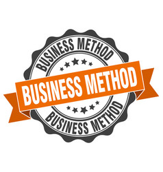 Business method stamp sign seal vector