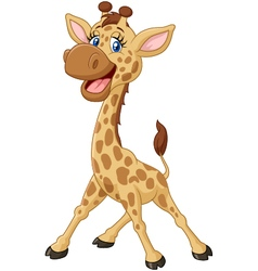 Cartoon smiling giraffe vector