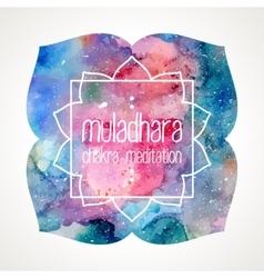 Chakra Muladhara frame vector image vector image