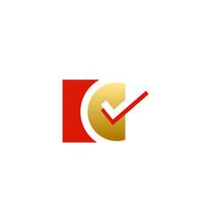 check mark vote logo vector image