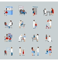 Children Doctor Pediatrician Set vector image