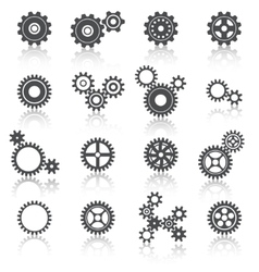 Cogs Wheels and Gears Icons Set vector image vector image