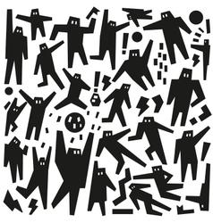 Dancing people - doodles vector