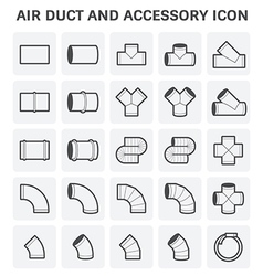 Duct pipe icon vector
