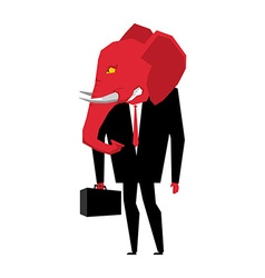 Elephant republican politician metaphor of vector
