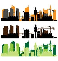 factory city vector image vector image