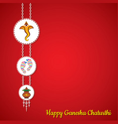 Ganesha chaturthi utsav greeting card vector