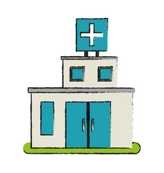 Hospital building icon image vector