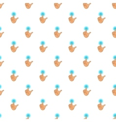 Human hand touch pattern cartoon style vector