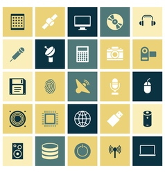 Icons for technology and devices vector