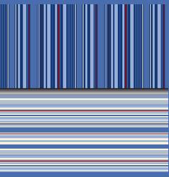 Indigo stripes background in seamless pattern vector