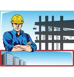 Lavoratore edile uomo vector