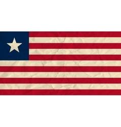 Liberia paper flag vector image