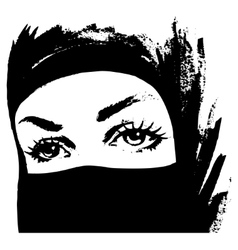 Muslim woman in hijab vector