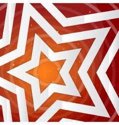 Paper star on the yellow power background f vector