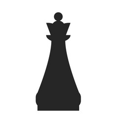 queen flat black icon object of chess pieces vector image vector image