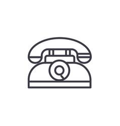 retro phone line icon sign vector image