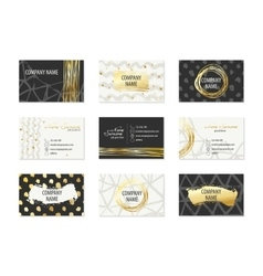 Set of Business Cards with hand drawn elements vector image vector image