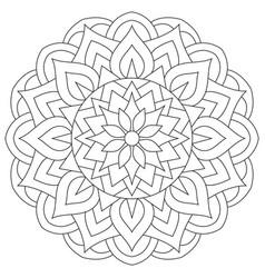 tribal ancient mandala symmetrical round east vector image vector image