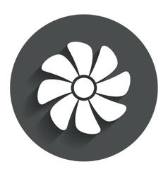 Ventilation sign icon ventilator symbol vector