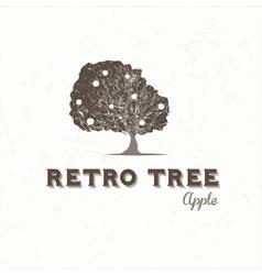 Vintage apple tree vector