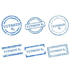 Vitamin B5 stamps vector image